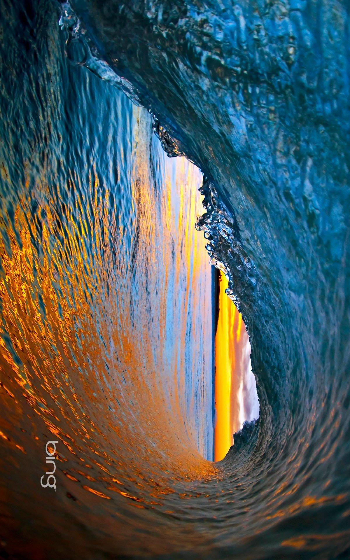 Ocean waves near Ventura, California